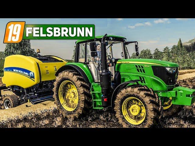 LS19 Felsbrunn #2: STROHBALLEN pressen! | LANDWIRTSCHAFTS SIMULATOR 2019