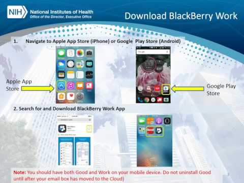 NIH OD Install BlackBerry Work (iPhone and Android) - YouTube
