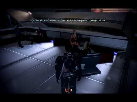Mass Effect 2 Turian hitting on a Quarian