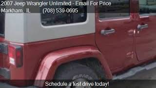 2007 Jeep Wrangler Unlimited Sahara 4x4 4dr SUV for sale in