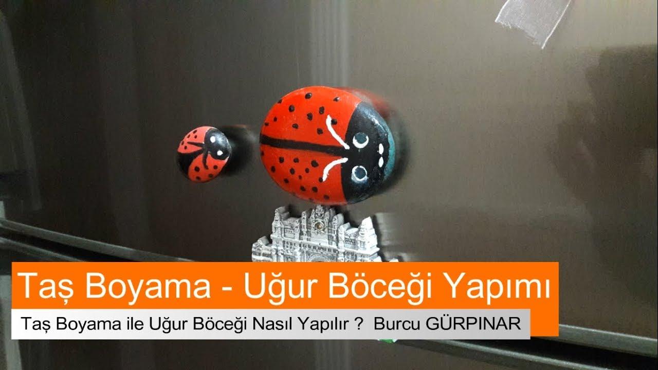 Taş Boyama Uğur Böceği Nasil Yapilir Youtube