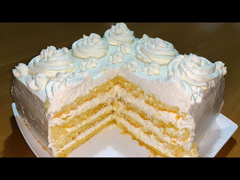 Хитрый торт с кремом за 30 минут. Быстрый и простой  рецепт.