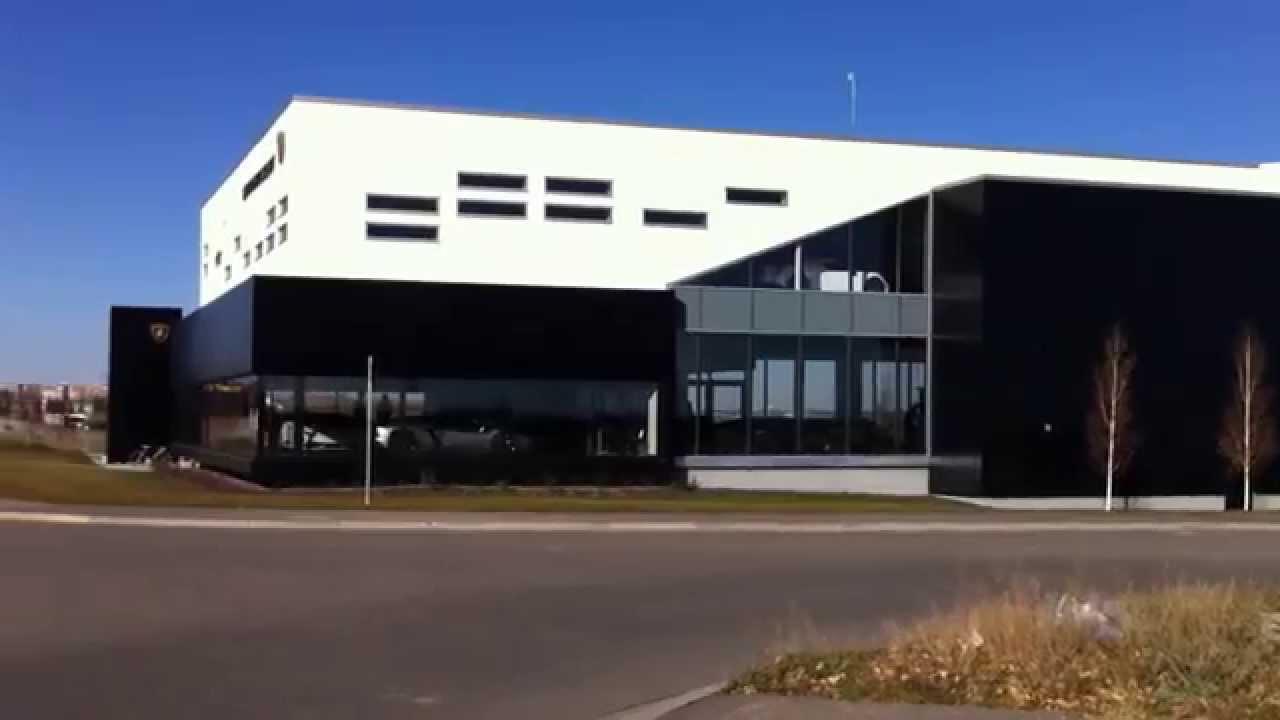 Lamborghini Dealership Building Calgary Youtube