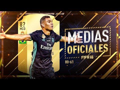 FIFA 18 | MEDIAS OFICIALES | 80 a  61