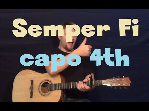 Semper Fi (Trace Adkins) Easy Guitar Lesson How to Play Tutorial ...