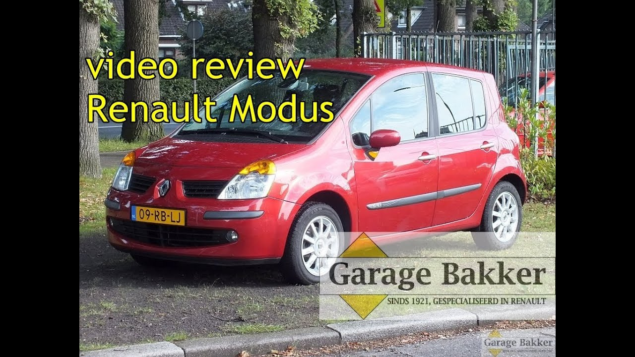Video review renault modus 1 6 16v dynamique 2005 09 for Garage renault poperinge belgique