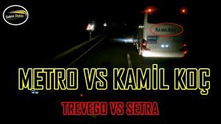 Metro Dingilli Travego vs Kamil Koç Setra Büyük Kapışma | Şoför hırs yaptı | Bakın kim kazandı