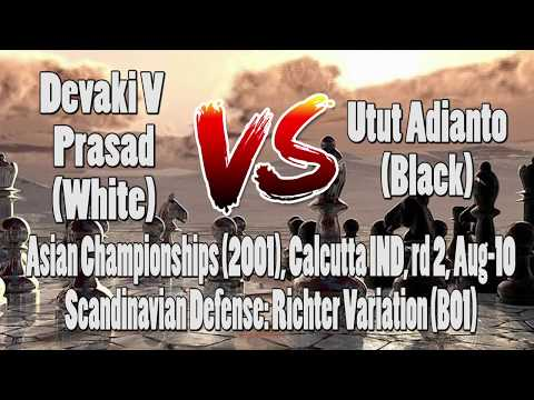 Pertandingan Catur|Chess Game Devaki V Prasad vs Utut Adianto|Asian Championships (2001)