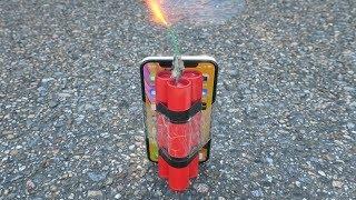 EXPERIMENT: iPhone XR vs Firecracker