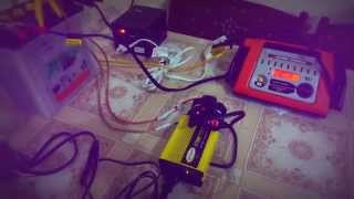 small automatic battery backup power solution for modem router and laptop