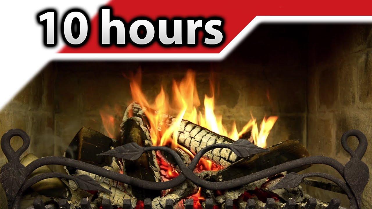 4K ► Kaminfeuer 🔥 10 Stunden entspannender Holzkamin 🔥 Ultra HD 2160p UHD Full HD 1080p