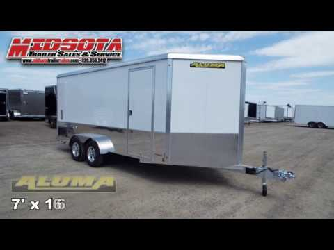 Midsota Trailer Sales - 7'x 16' Aluma Enclosed Trailer