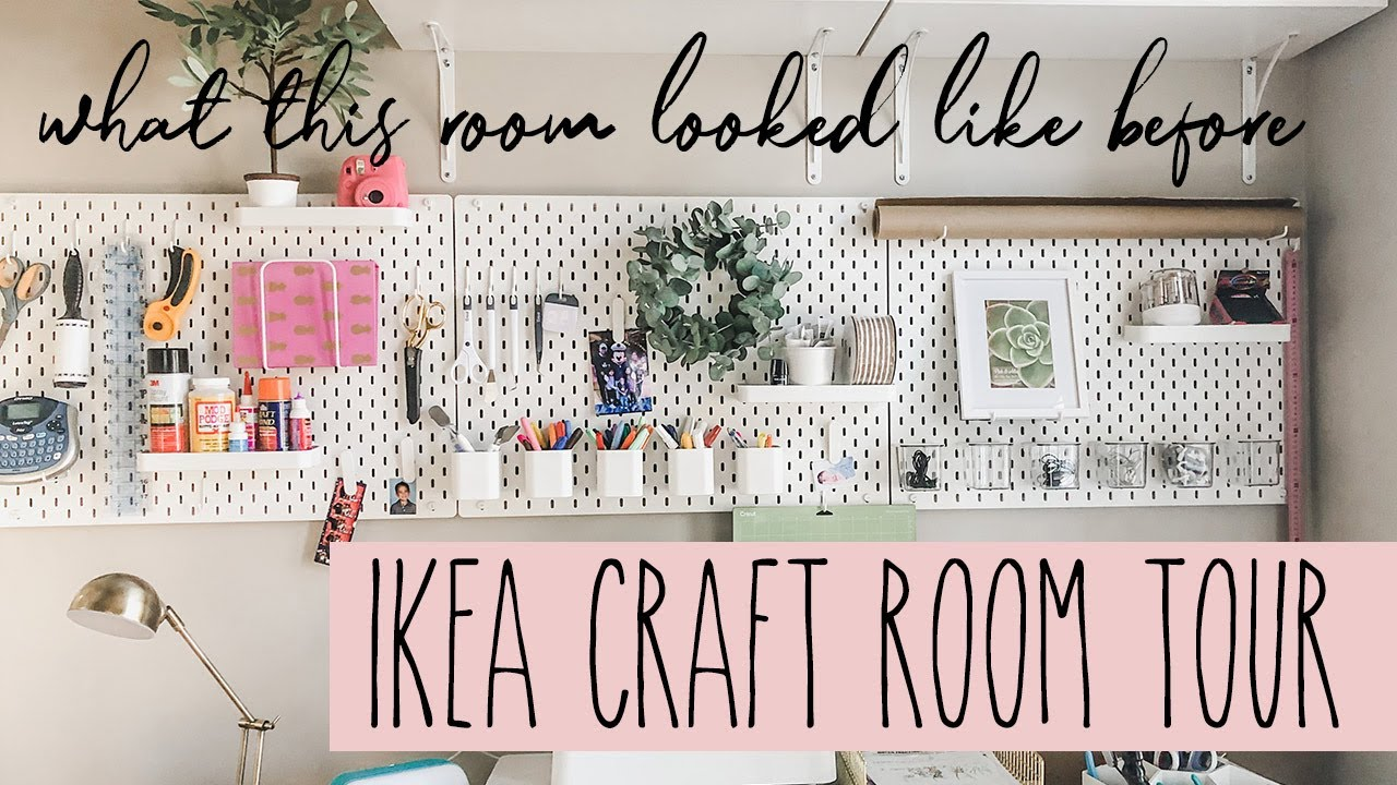 Craft Room With Ikea Furniture 2020 Organization Meets Inspiration Showing You My Space Youtube