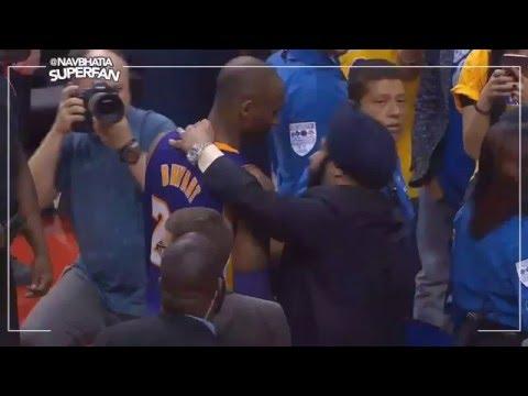 Kobe Bryant greets Sikh Superfan Nav Bhatia