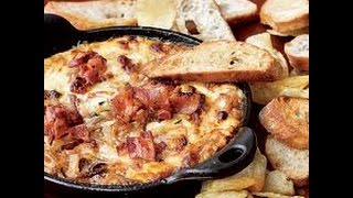Hot Caramelized Onion Dip With Bacon And Gruyere Cheese