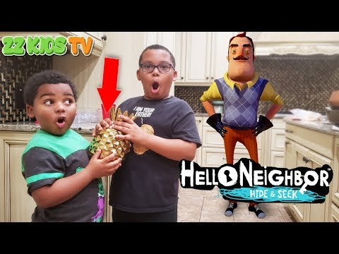 Hello Neighbor Hide & Seek in Real Life! (Finding the Golden Pineapple) |