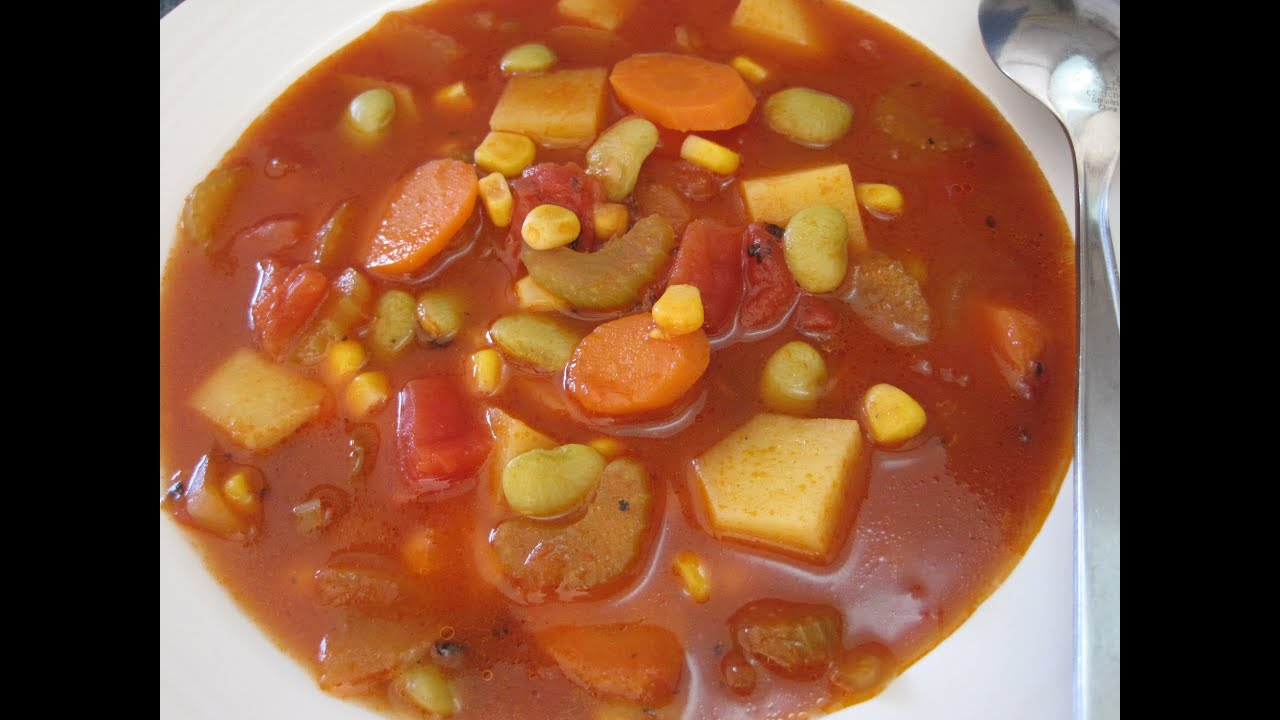 vegetable soup how to make simple basic vegetable soup