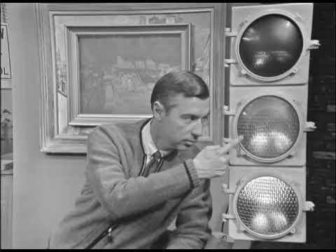 Mister Rogers Demonstrates His Traffic Signal Ep 0090 Youtube