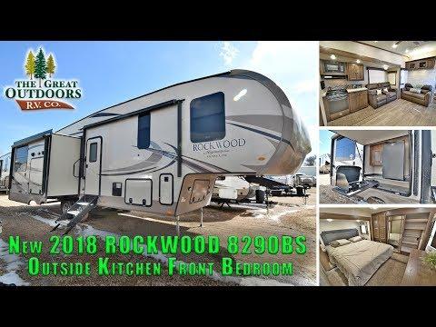 New 2018 ROCKWOOD 8290BS Outside Kitchen Rear Main Kitchen Fifth Wheel RV Camper Colorado Dealer