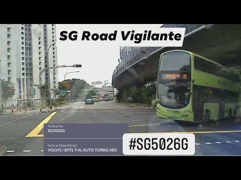18dec2020 #SGS5026G bus service 78 turning right & fail to conform to red light signal.