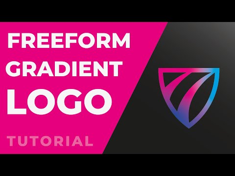 Adobe Illustrator 2020 Tutorial: Freeform Gradient Logo Design thumbnail