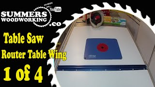 063 How To Make A Table Saw Extension Wing Router Table 1 Of 4