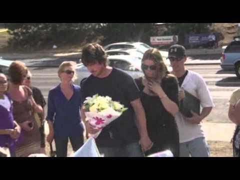 Raw Video: Bale Visits Shooting Memorial