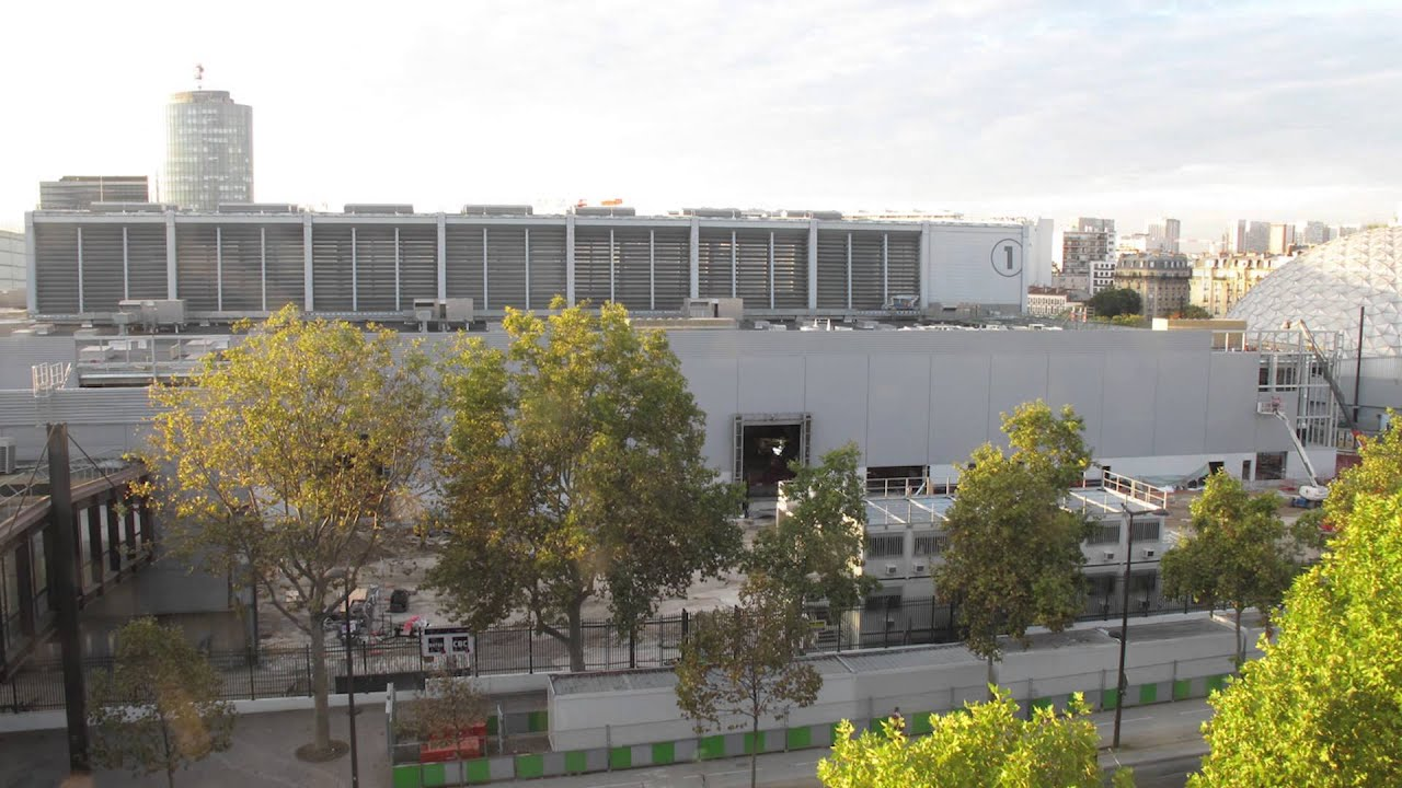 Timelapse reconfiguration du pavillon 1 de paris expo for Parking r porte de versailles