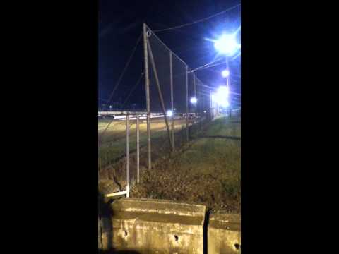 Four wide salute to fans from mercer raceway park