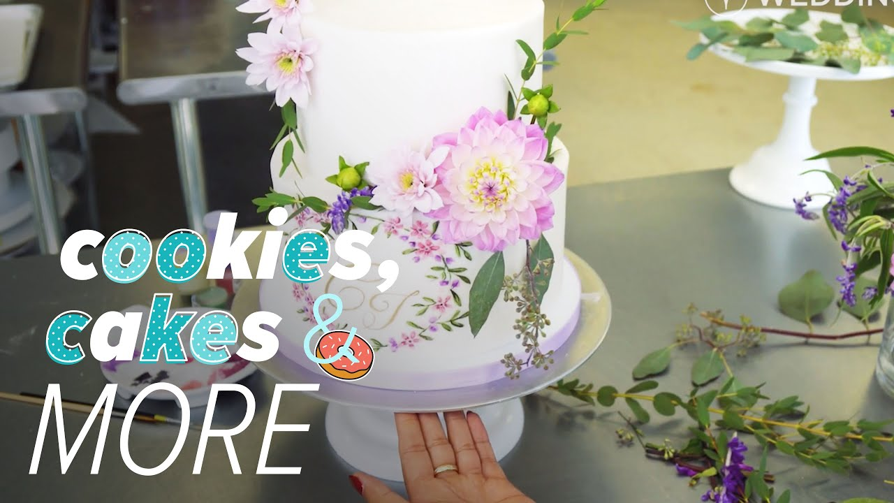 2018 Wedding Cake Trends Hand Painted Floral