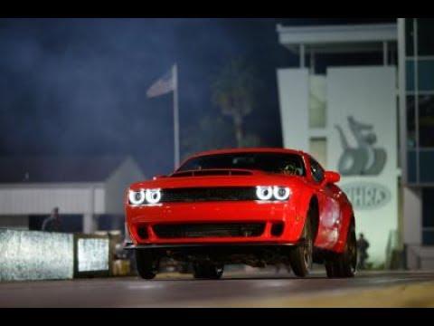 2018 Dodge Challenger DEMON Running Footage