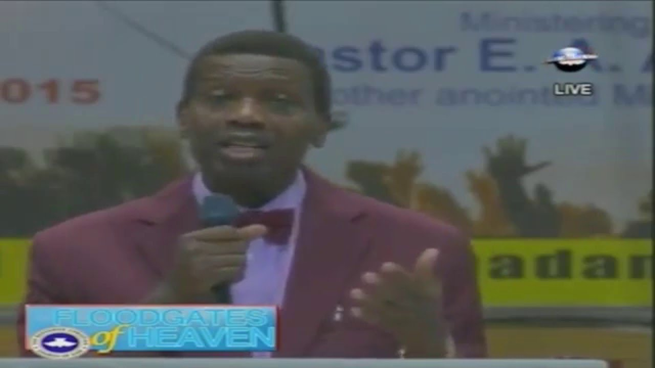 Pastor E A  Adeboye Tells Members Don't Give Offering If They Are
