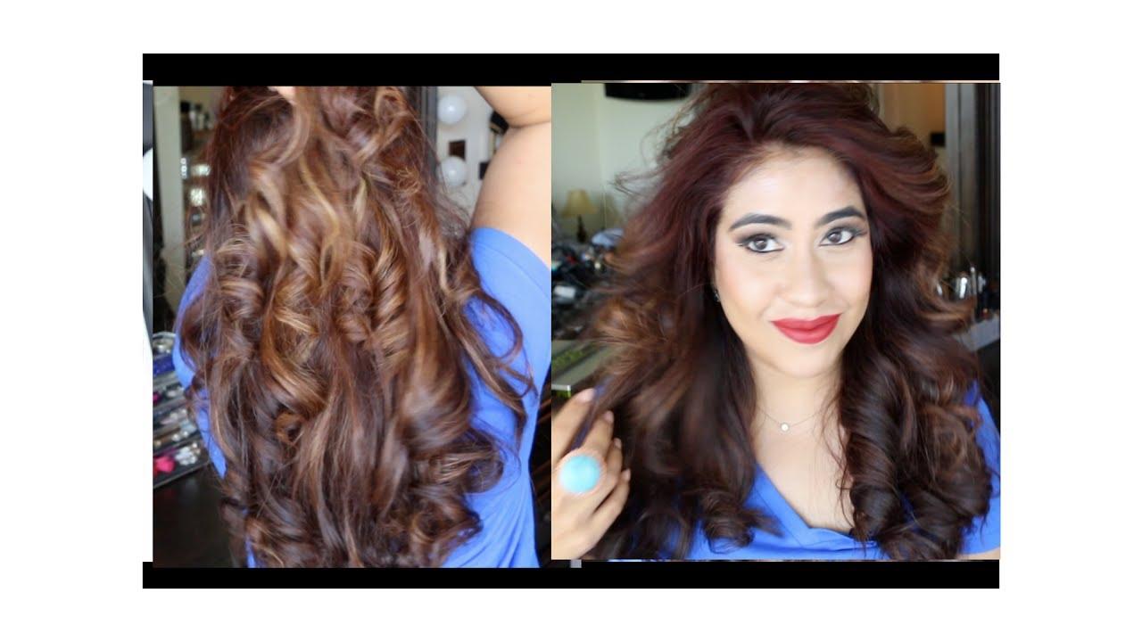 curling hair using chi flat iron - youtube