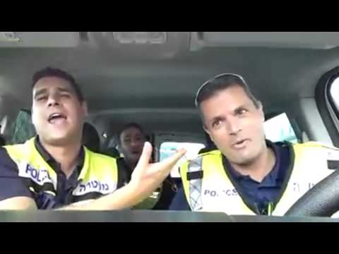 Police Officers doing Karaoke