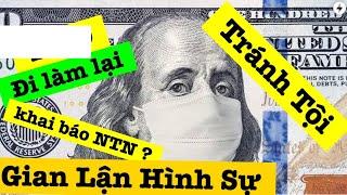 ĐI LÀM LẠI KHAI BÁO NHƯ THẾ NÀO? Tránh Tội Gian Lận Tiền chính phủ Mỹ...