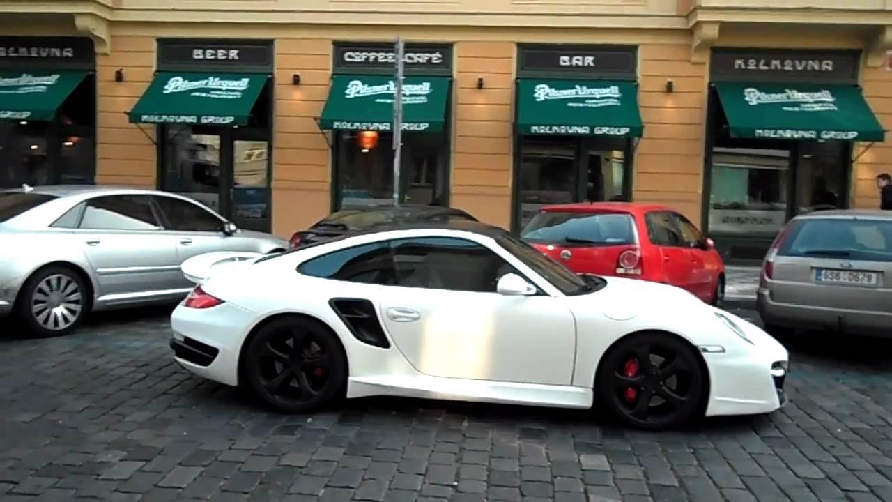 Matte White Techart 911 Turbo In Prague Hd Youtube