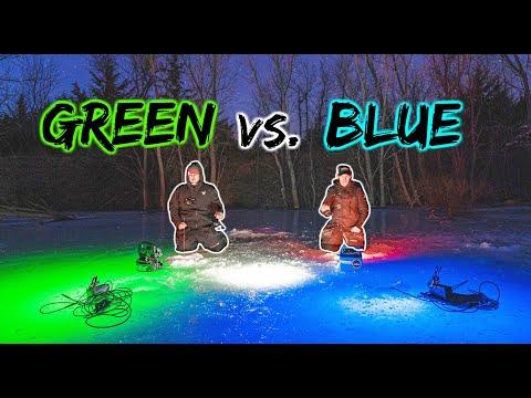 Night Fishing Challenge W/ The WORLD'S BRIGHTEST Glow Lights!!! (1V1)