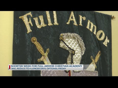 Full Armor Christian Academy changing to 4-day schedule