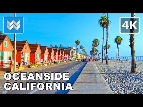 [4K] Bike Ride 🚴 - Oceanside Beach in San Diego County, California - Virtual Cycling Tour 🎧