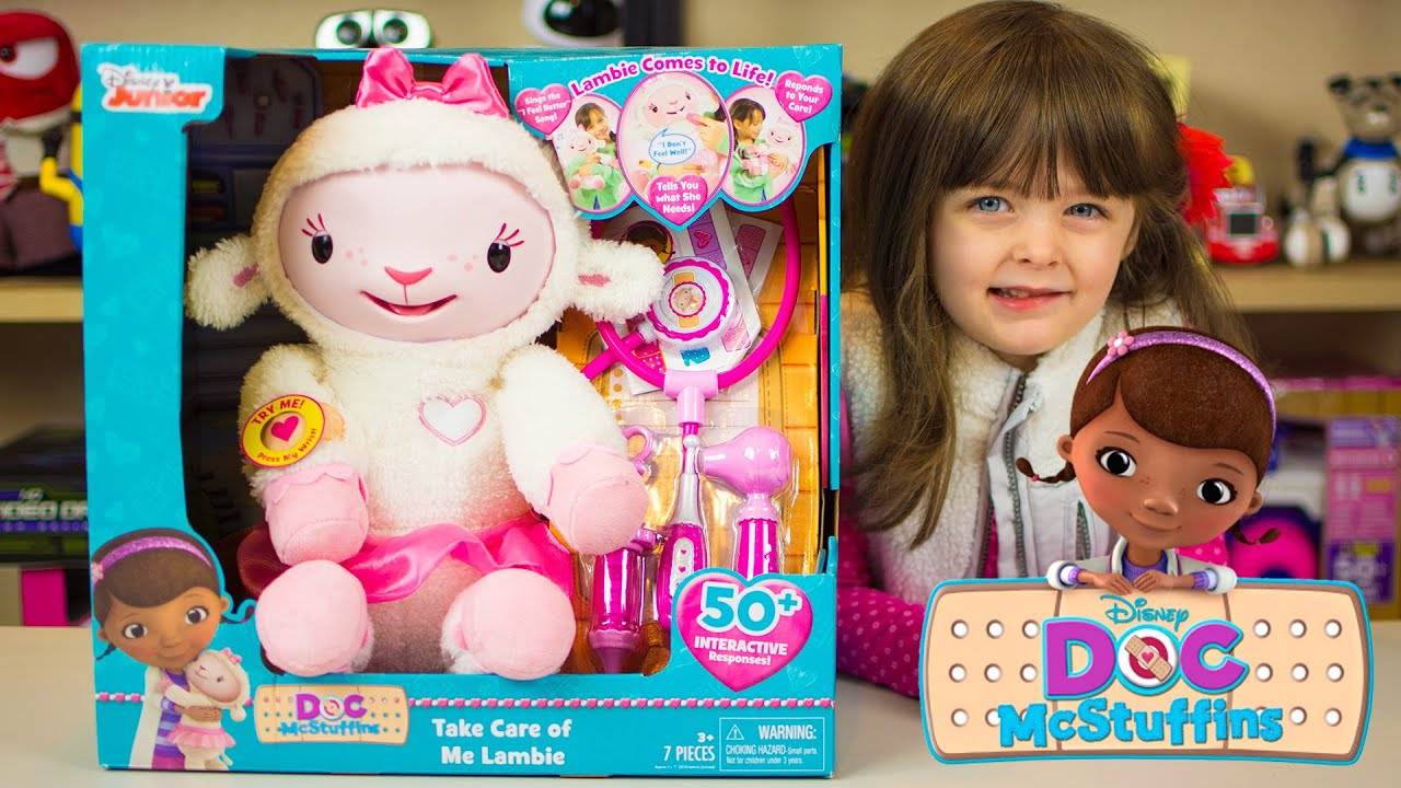 bcd43ef276e Doc McStuffins Toys Take Care of Me Lambie Disney Junior Kinder Playtime