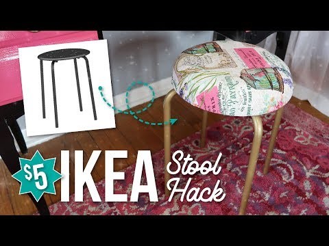 IKEA Marius Stool Hack / Upcycle - CHEAP & EASY DIY