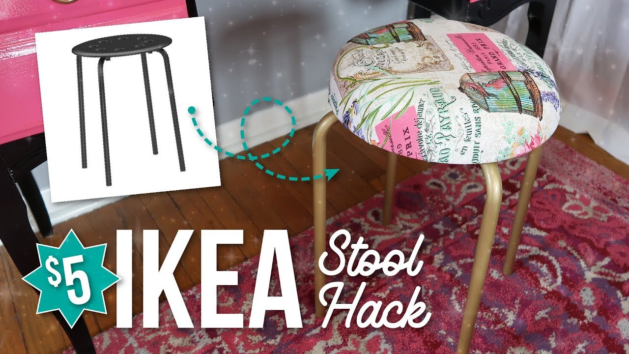 Ikea Marius Stool Hack Upcycle Cheap Easy Diy Youtube