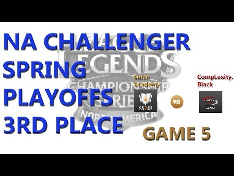 NA Challenger Spring Playoffs Third Place: Curse Academy vs Complexity.Black G5 Highlights