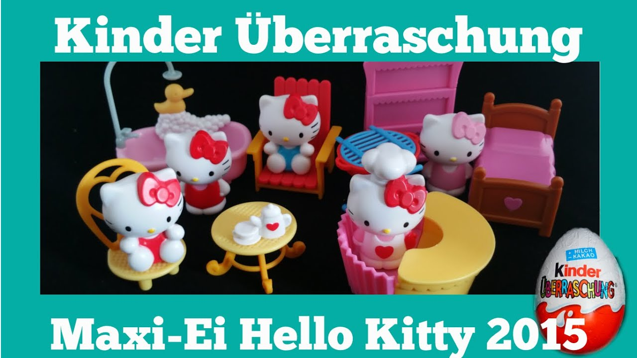 hello kitty maxi ei collection 2015 hello kitty big kinder surprise youtube. Black Bedroom Furniture Sets. Home Design Ideas