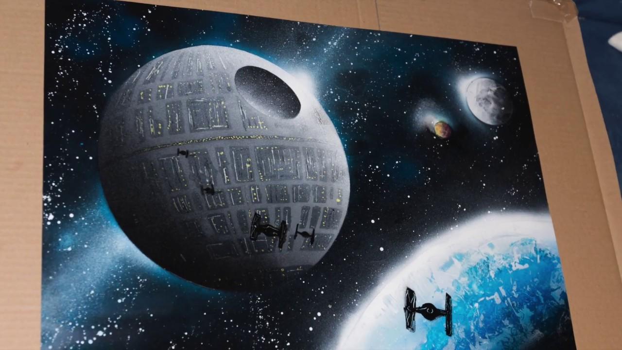 Spray Painting Art Tuto Death Star Youtube