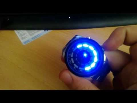 watch Stylish Blue Light LED Round Dial Matrix Stainless from ChinaBuye.com