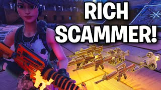 This is how scammers get rich... 😞☹️ (Scammer Get Scammed) Fortnite Save The World