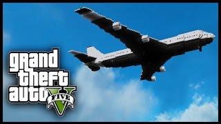 Minecraft - GTA V Mod - Grand Theft Auto 5 - AIRPLANE HIJACK!