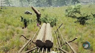 مراحل انشاء البيت فى  لعبة The Forest