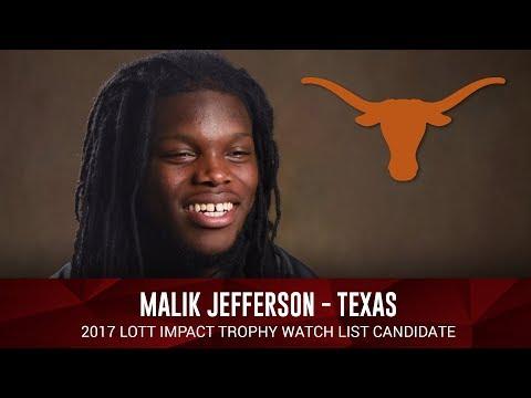 Malik Jefferson of Texas -  Lott IMPACT Trophy Semi-Finalist
